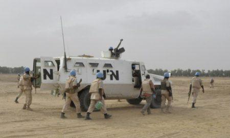 Soldats casques bleus au Mali