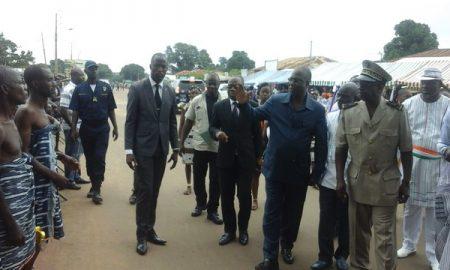 """Le ministre Maurice Kouakou Bandaman, à l'ouverture de la 23ème édition du Festival national """"Vacances culture"""" à Bouaflé"""