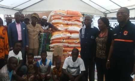 Adama Koné - Marahoué - Ministère de l'Economie - Bouaflé - dons - inondations