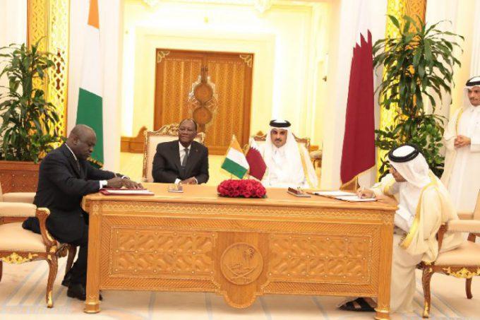 Alassane Ouattara - Cheikh Tamim Bin Hamad Al-Thani - Qatar - diplomatie - coopération - politique - accords - économie
