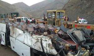 Iran - tanker - bus - accident