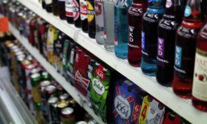 bouteilles - alcool - supermarché - boisson