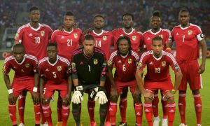Football - Congo-Brazza - Libéria - CAN 2019