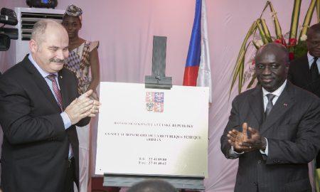 Thomàs Kryl - Marcel Amon Tanoh -diplomatie-consulat Tchèque