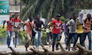 manifestation - Abidjan - Duékoué - incendie - feu