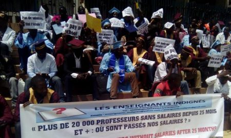 manifestation-enseignants-Cameroun-grève