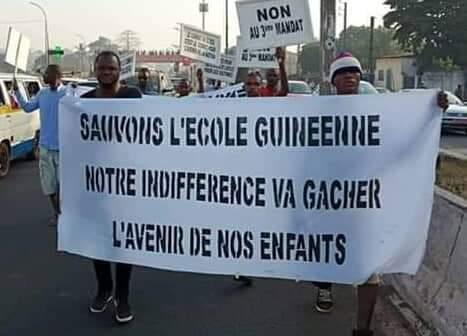 Guinée - grève -parents