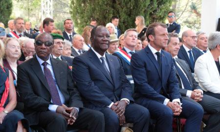 alpha-condé-guinée-alassane-ouattara-côte-d'ivoire-emmanuel-macron-france-presidents-75-ans-politique-coopération-debarquement-2019