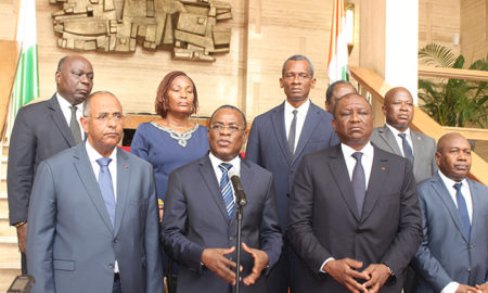 affi-n'guessan-gouvernement-ivoirien-patrick-achi-hamed-bakayoko-issiaka-sangaré-fpi-rhdp-laurent-gbagbo-blé-goudé-retour