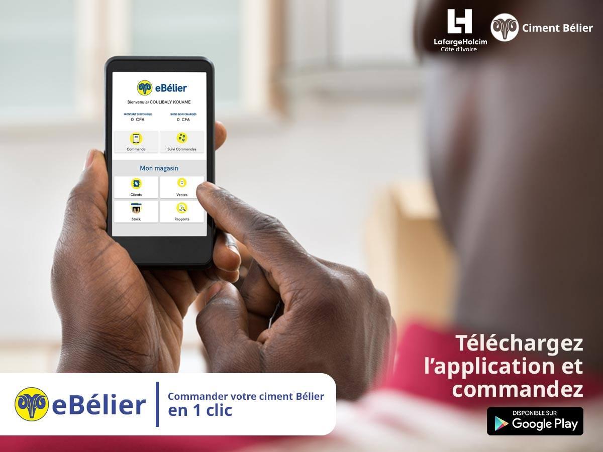 eBélier, une application pour « commander et recevoir » du ciment