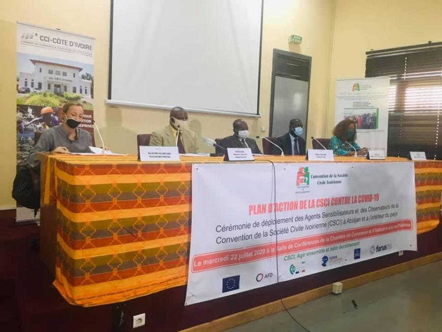 la société civile ivoirienne déploie des agents sensibilisateurs dans le pays