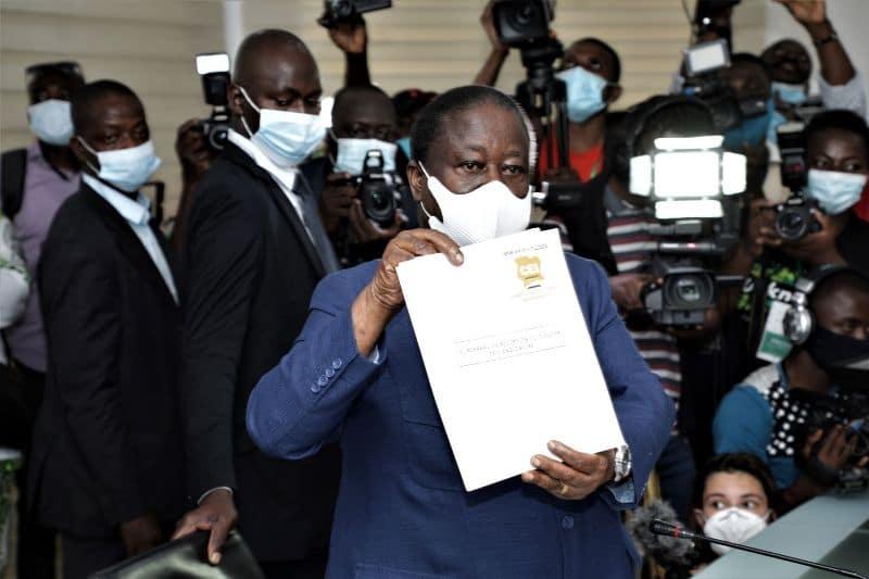 Bédié dépose sa candidature pour la présidentielle ivoirienne