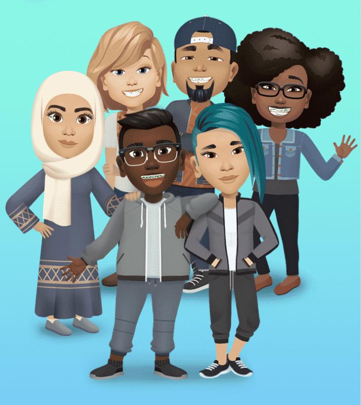 Les avatars comprennent des centaines de packs d'autocollants et des intégrations avec les fournisseurs de GIF