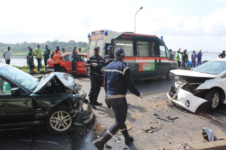 un accident de la circulation à Yamoussoukro