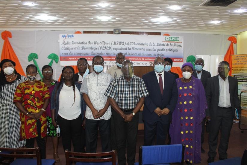 Adoption en Côte d'Ivoire d'un guide pour une communication électorale apaisée