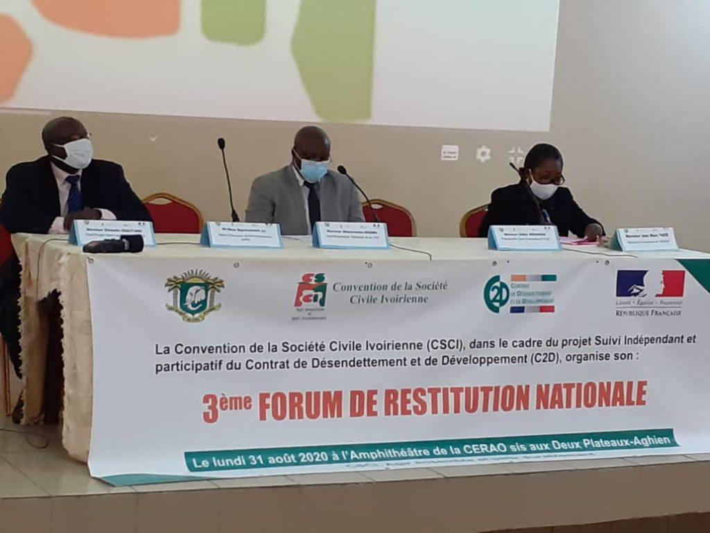 contrôle citoyen de la société civile sur les projets du C2D