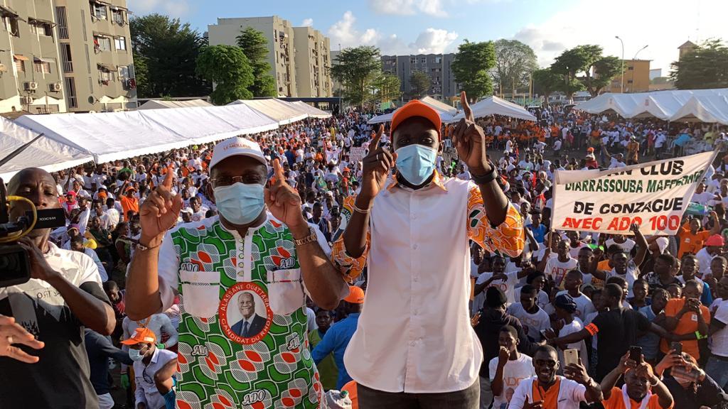 Mobilisation du RHDP à Port-Bouët pour assurer une victoire de Ouattara avec 90 des voix à la présidentielle