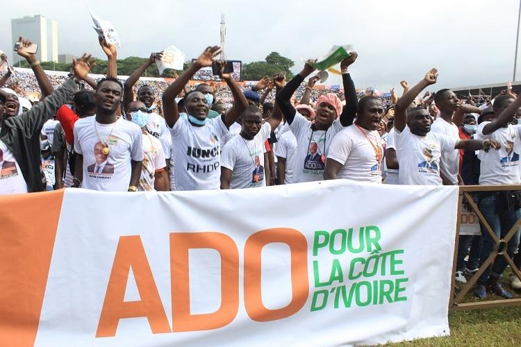 Ouattara appelle ses militants à aller voter massivement pour une victoire en un coup KO