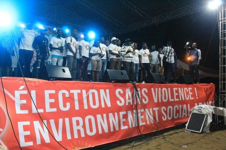 appels d'artistes Ivoiriens à la caravane Élection, c'est pas gnaga, pour un scrutin apaisé