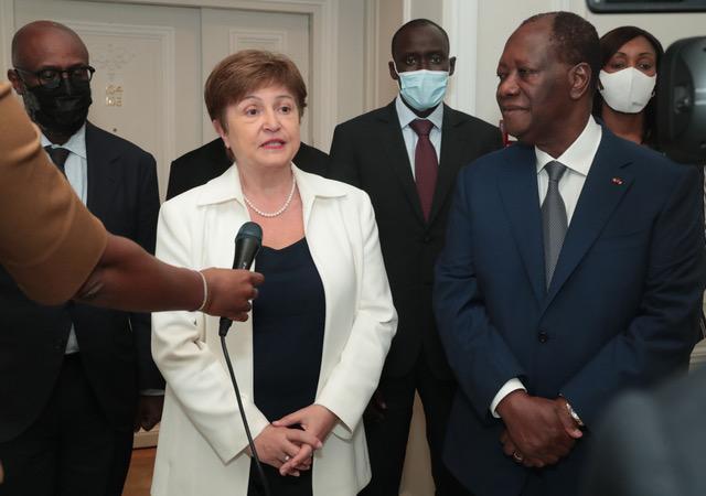 La DG du FMI annonce 500 milliards FCFA à la Côte d'Ivoire