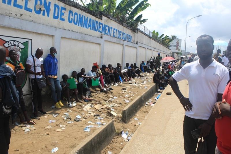 La galère des candidats au test de l'armée ivoirienne